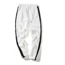 Fashion Colour Matching Casual Pants For Men - White