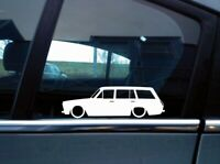 x2 Lowered car silhouette stickers for Ford Cortina Mk1 estate wagon | classic
