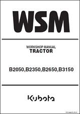 Kubota B2050 B2350 B2650 B3150 Tractor Workshop Manual (B410)