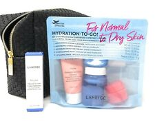 LANEIGE HYDRATION 6-pc Travel Set Normal to Dry Skin  K-Beauty + Free Makeup Bag