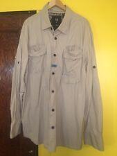 Cavi Men's Slim Fit Casual Shirt Size 5XL Long Sleeve Button Down Vintage Beige