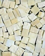 Vanilla (White Sand) Stained Glass Mosaic Scrap Pack, about 100 Pieces