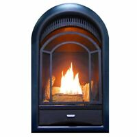 NEW ProCom Ventless Fireplace Insert Thermostat Control Arched Door – 15,000 BTU