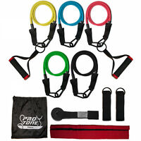 Protone resistance bands set with handles - 5 tube set, door anchor, ankle strap