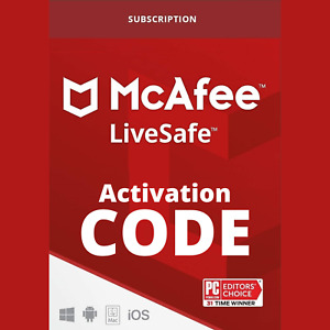 McAfee LiveSafe 2021 Activation Code Unlimited Device 1 Year with Premium VPN