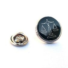 Scales Of Justice, Lawyers Masons  Novelty Pin Badge, Tie Pin / Lapel (AJTP211)