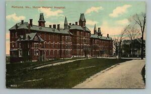 General Hospital Portland Maine ME Postcard