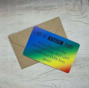 Autism Mum Dad Keepsake wallet cards gift Autism Awareness