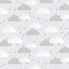 Fabric Baby Cloudy Rainy Day Grey on Grey Flannel by the 1/4 yard