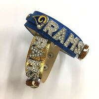Los Angeles Rams Football Bracelet / NFL Rams / Rams Fans Jewelry