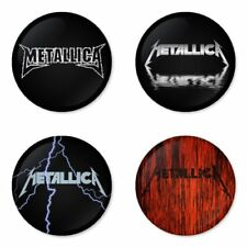 Metallica, rock, metal, A - 4 chapas, pin, badge, button