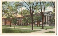 Postcard First Baptist Church and Sunday School Room Columbus GA