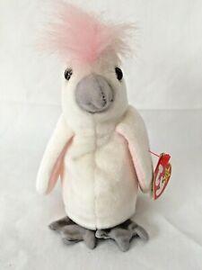 TY Beanie Baby-KUKU (COCKATOO) bird -DOB 1/5/1997-MWMT Plush Stuffed animal toy