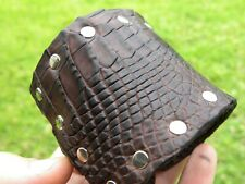 Men cuff Ketoh Bracelet Quality Alligator and Bison leather adjustable buckle