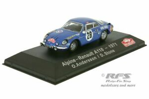 Alpine Renault A110 Rallye Monte Carlo 1971 Ove Andersson 1:43 Atlas Collections