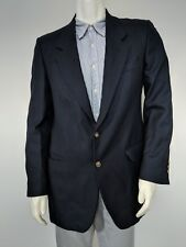40L Calvin Klein Wool Blazer Black Made in USA 2-Button Sportcoat Jacket
