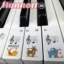 Animal Keyboard / Piano Stickers up to 88 KEYS learn Piano 4 Kids children
