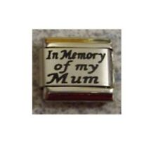 9mm Classic Size Italian Charm L48 Family    In Memory of my Mum