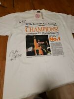 tennessee Volunteers AUTOGRAPHED 1999 Champions tshirt Billy Ratliff +1