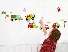 color car kids boys nursery room DIY Wall Decals removable sticker 140x50cm
