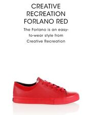 Mens Red Size 9.5 Forlando Creative Recreation Trainers