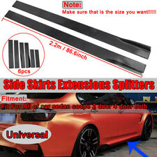 CAR SIDE SKIRT EXTENSION BLADES GLOSS BLACK UNIVERSAL FOR BMW AUDI VW FORD 2.2M