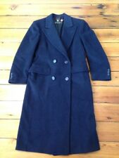 Hart Schaffner Marx Gold Trumpeter Dark Cashmere Long Coat Union USA Made M 40""