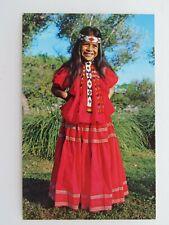 New ListingVintage Postcard Apache Indian Girl San Carlos Res. Native Americana A3109