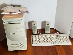 Vintage Computer System Tower Keyboard Speakers New In Box