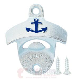 EMBOSSED Anchor Navy Beer Bottle Opener Starr X Wall Mount Cast Iron w/ SCREWS