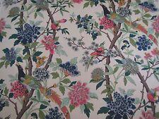 "GP & J Baker cortina tela diseño ""Hydrangea pájaro"" 5 metros Rose & Galleta"