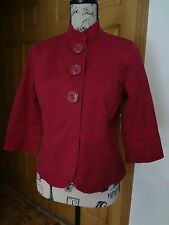 NWT Womens Coldwater Creek Size 10P Pink Twill Jacket