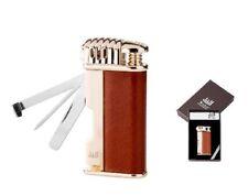 Winjet Feuerzeug Davos braun/gold Piezo Zündung Besteckr 222050