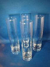 "Tall plain shot glass shooter liquor glasses barware 7.5"" Tall Set of 4 @3G"