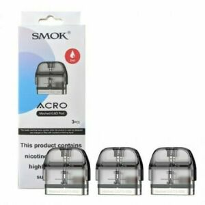 Smok Acro Pods Meshed 0.8ohm Pack of 3x Replacement Pods 2ML Fast Dispatch
