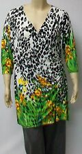 LEOPARD PRINT TUNIC SIZE LARGE BY DUTCH DESIGNER YOEK,LAGENLOOK.POLYESTER.