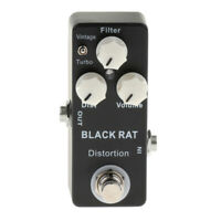 Mosky Black Rat Distortion Electric Guitar Effects Pedal True Bypass