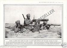 World War 1 Print 1915 Indian Maxim Section Suez Canal Egypt Against Turks