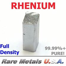 RHENIUM: 7 GRAM 7g | PURE 99.99% Re .9999 BAR BULLION PRECIOUS | RARE METALS USA