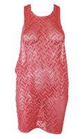 Miken Juniors Crochet Racerback Dress Swim Cover-Up Pink Size Medium