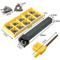 SER1212H16 Threading Lathe Turning Tool Holder Boring Bar 10Pcs 16ER AG60 Insert