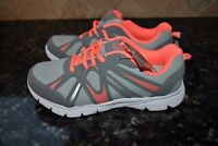 New DANSKIN NOW Athletic Girl Lightweight Running Shoes s 5 GREY/CORAL Metallic