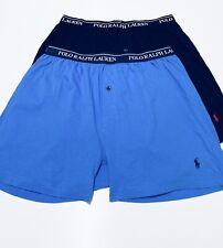 RY73A2 Polo Ralph Lauren Men/'s 3-Pack Blue Mix Cotton Knit Boxer Shorts