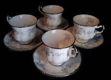 Paragon Bride's Choice (Elizabeth)  Set of 4 Cups & Saucers