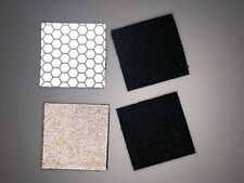 """Four (4) 1"""" X 1"""" 3M (R) Reflective Patches With Velcro(R)"""