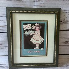 "1996 Mary Engelbreit Ink Lives Get One 9.5"" x 11.25"" Framed Print Under Glass"