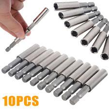 "10 Stück Bithalter Magnet 1/4"" Bits Halterung Bitaufnahme magnetisch Bohrer l DE"