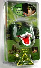 SUN DinoBryte Dinosaur T-Rex White LED Head Lamp with Roaring Sound Kids Camping