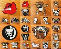 Pug Dog Cute Pet Animal Logo Biker Sew/Iron On Patch Embroidered Applique