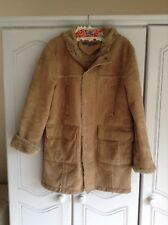 Mans River Island Size S Faux Sheepskin Hooded Afghan Coat. Pre Owned